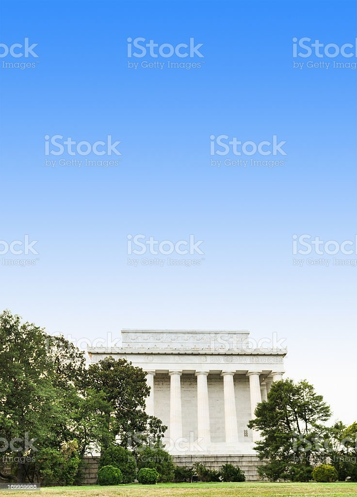 Lincoln Memorial in washington DC - USA royalty-free stock photo