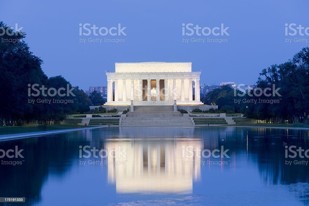 Lincoln Memorial in Washington DC USA stock photo
