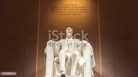 Lincoln Memorial in Washington D.C., USA