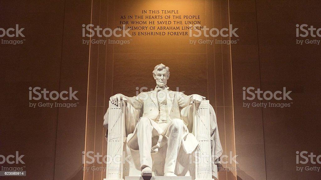 Lincoln Memorial in Washington D.C., USA stock photo