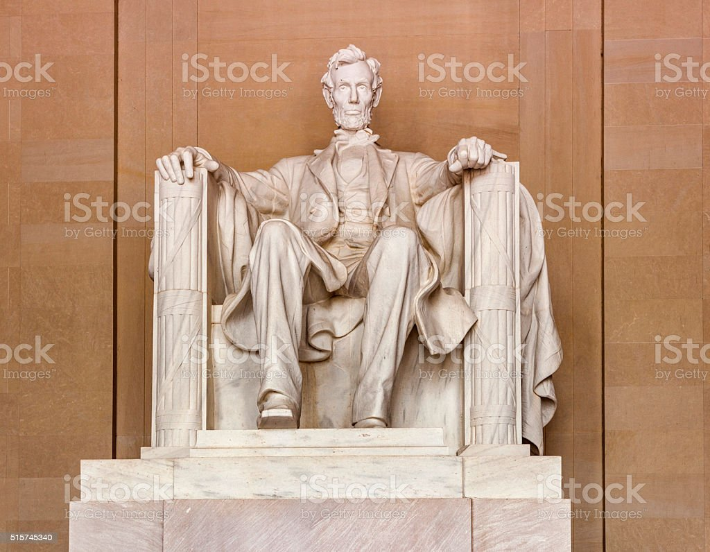 Lincoln Memorial in Washington stock photo