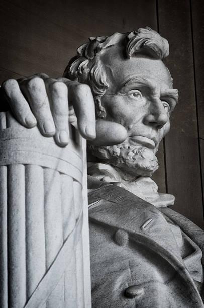 lincoln memorial statue - lincoln united stock-fotos und bilder