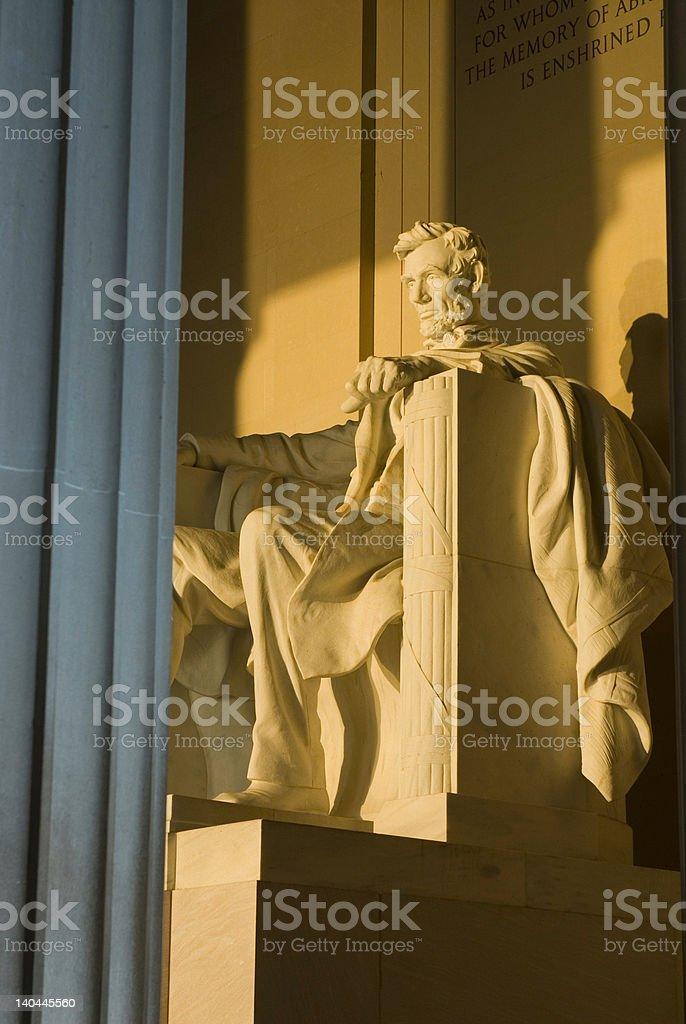 Lincoln Memorial sunrise Washington DC travel series royalty-free stock photo