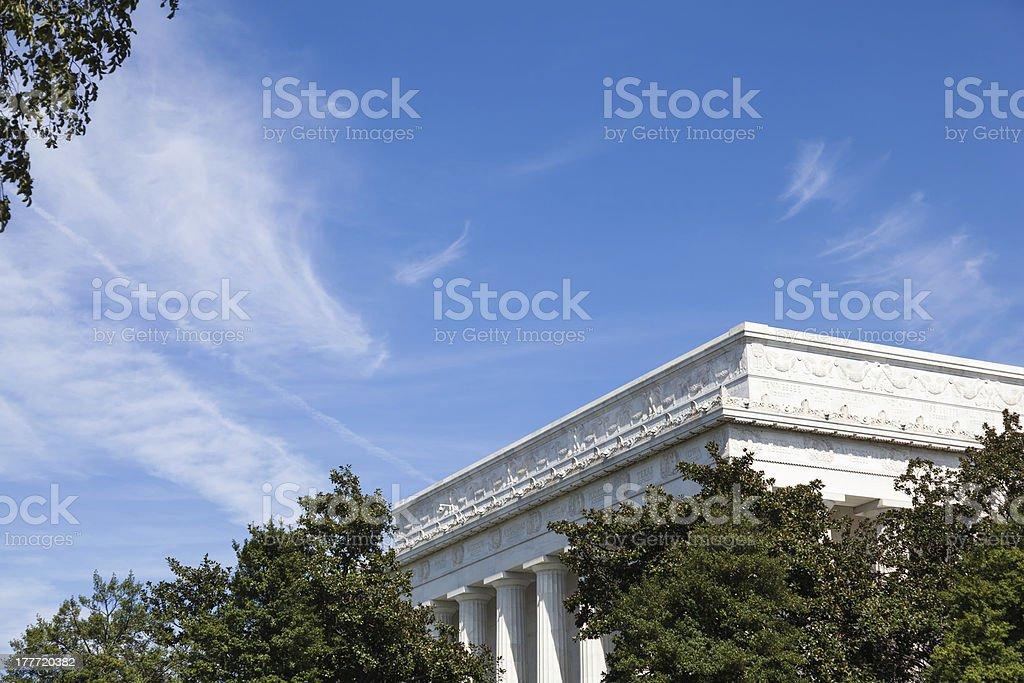 Lincoln Memorial Through the Trees stock photo