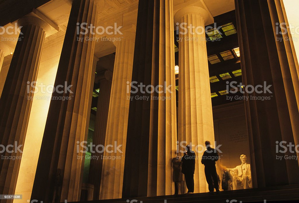 Lincoln Memorial, Washington DC at night royalty-free stock photo