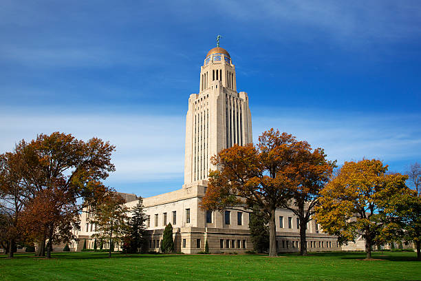 Lincoln Nebraska State Capital stock photo