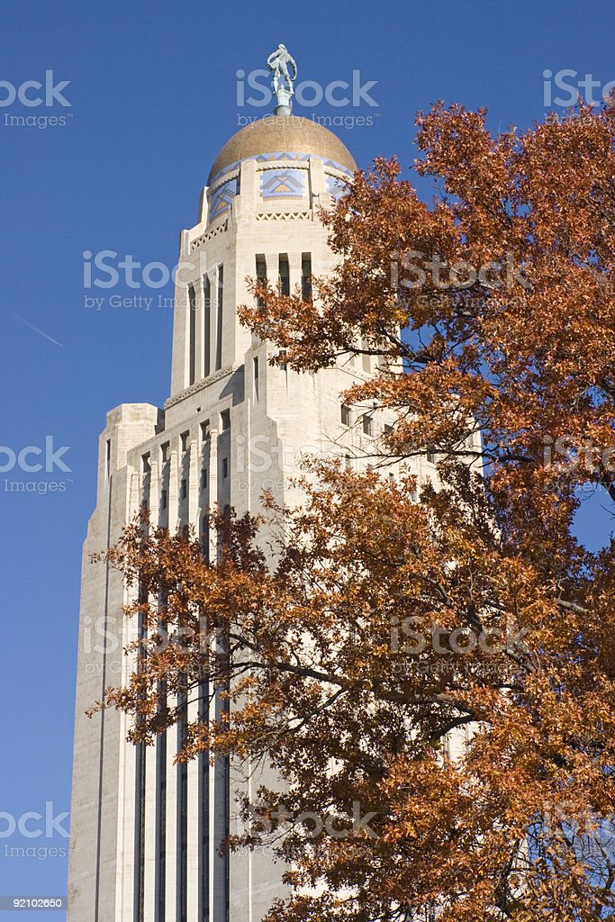 Lincoln, Nebraska - State Capitol royalty-free stock photo
