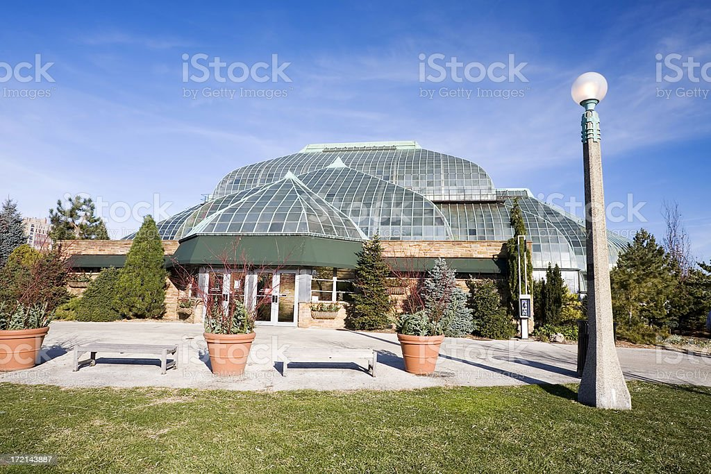 Lincoln Park Conservatory, Chicago royalty-free stock photo