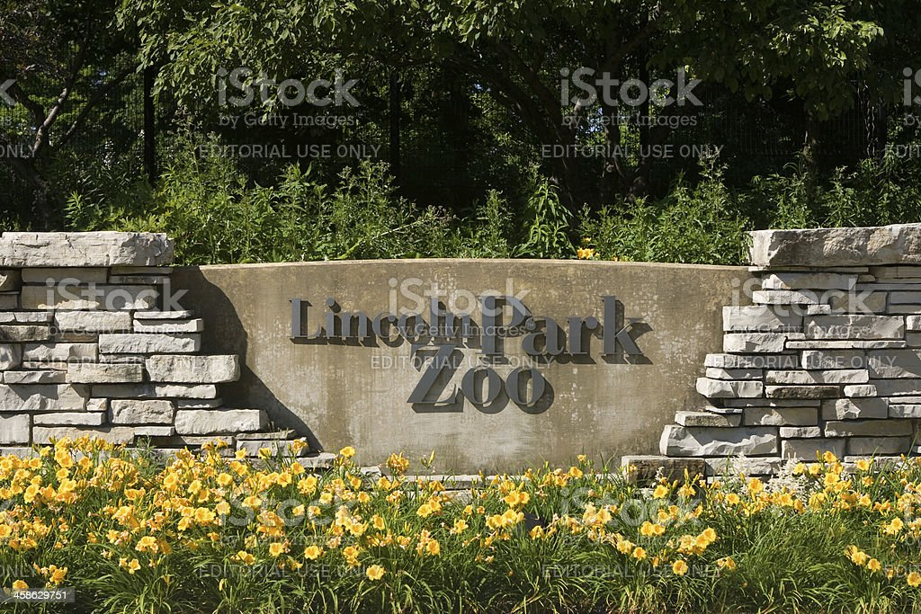 Lincoln Park Zoo Entrance Sign stock photo