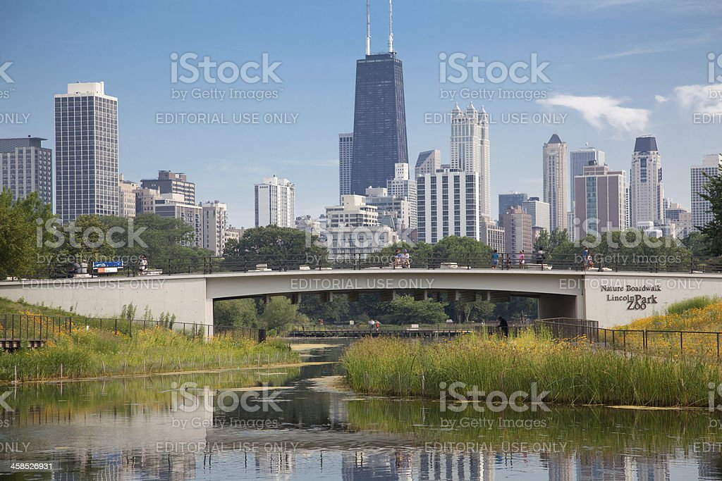 Lincoln Park Zoo in Chicago stock photo