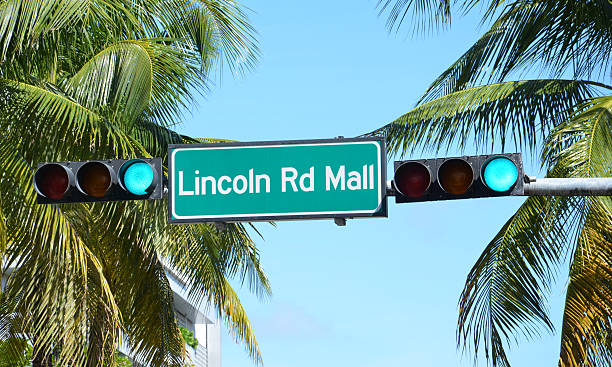 Lincoln Rd Mall Sign stock photo
