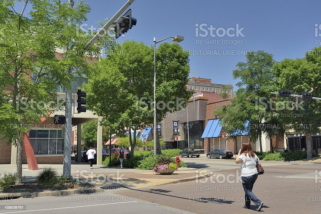 Lincoln Street Scene stock photo