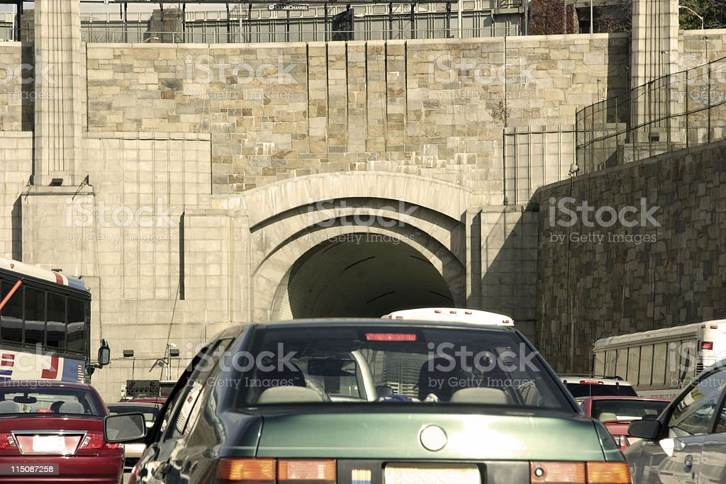 lincoln tunnel traffic NYC royalty-free stock photo