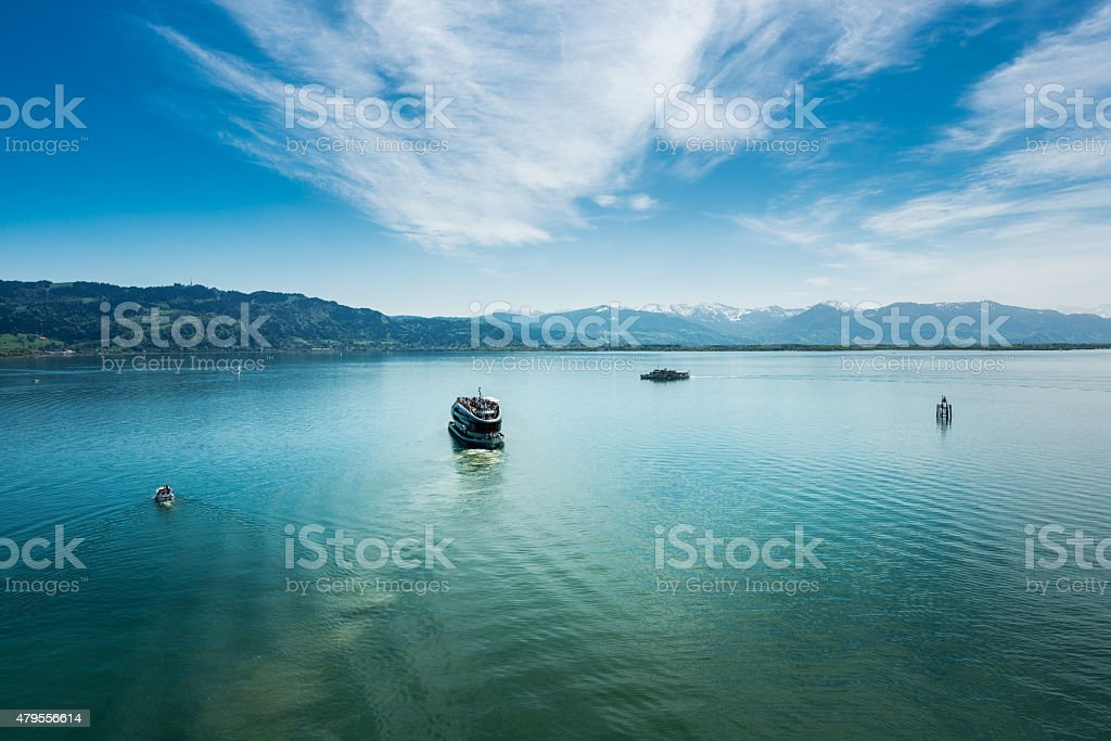 Lindau at Lake Constance stock photo