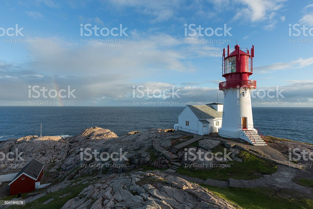 Lindesnes Lighthouse, Norway stock photo