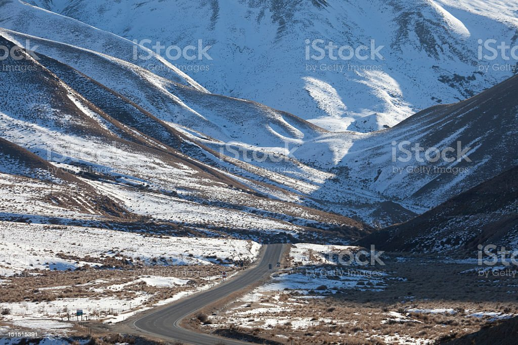 Lindis Pass, Otago, New Zealand royalty-free stock photo
