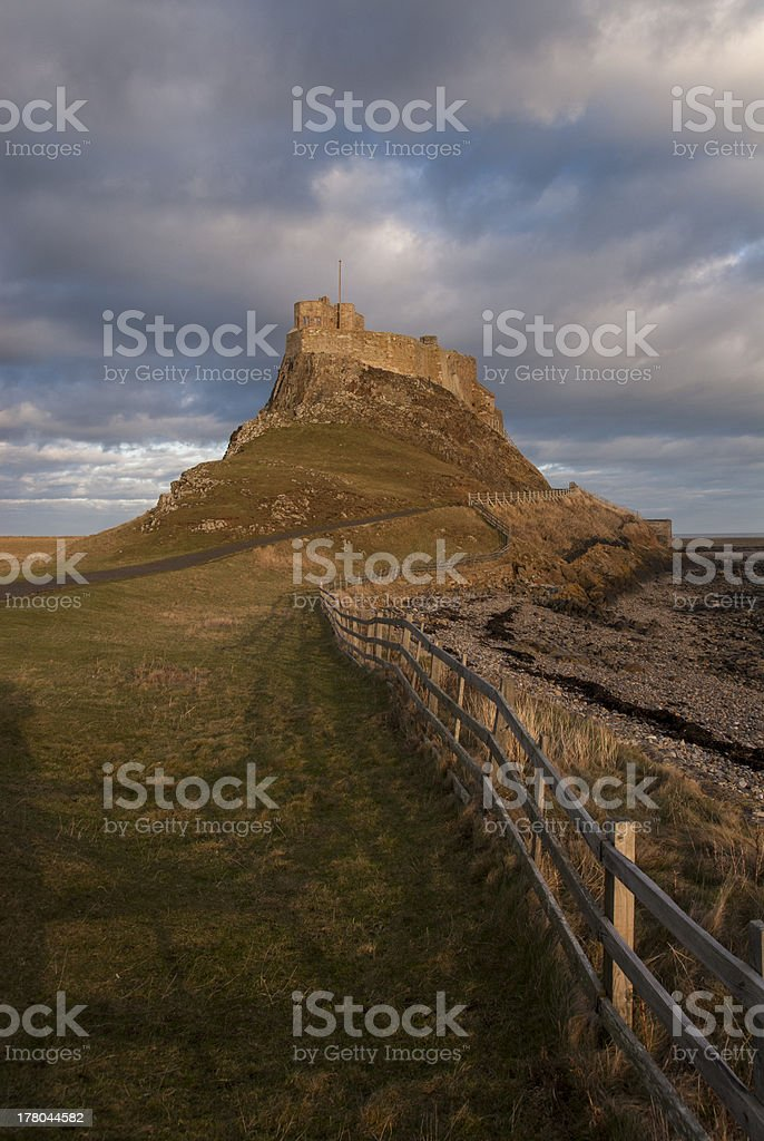 Lindisfarne Castle, Northumberland royalty-free stock photo