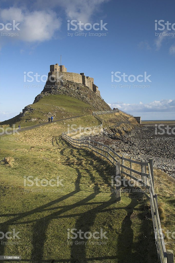 Lindisfarne stock photo
