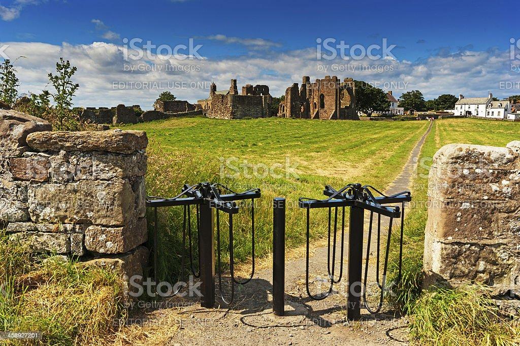 Lindisfarne Priory royalty-free stock photo