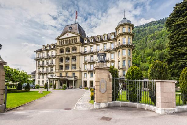 lindner grand hotel beau rivage - hotel bern stock-fotos und bilder