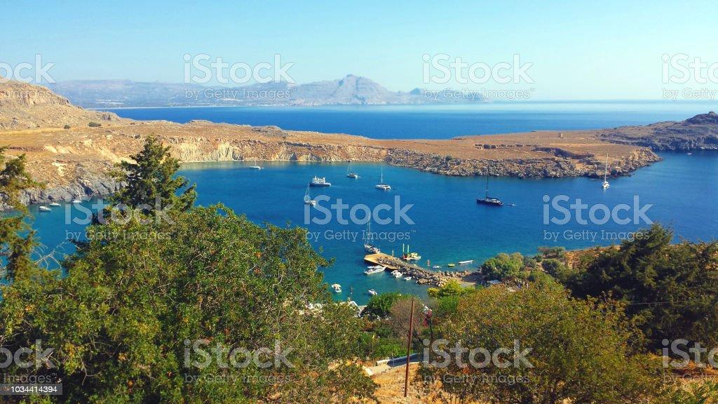 Lindos bay, Rhodes island, Greece – zdjęcie