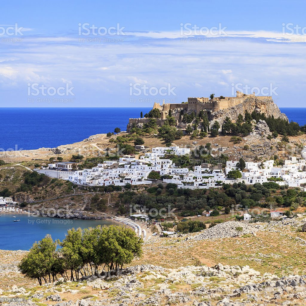 Lindos Rhodes Greece Europe royalty-free stock photo