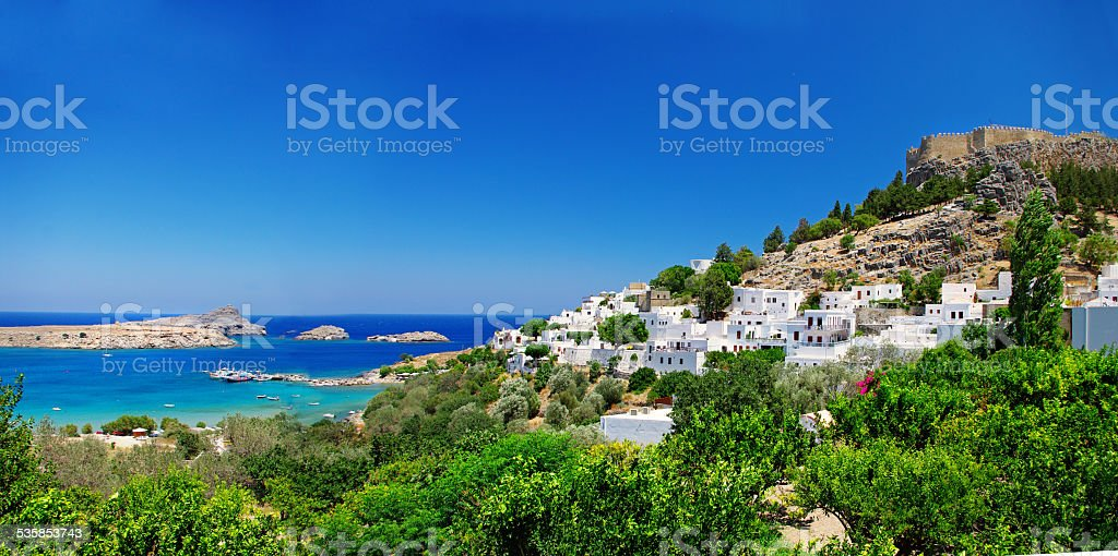 Lindos Rodhes Island,Greece. stock photo