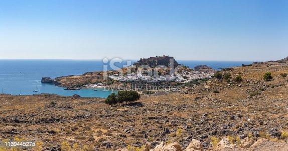 Lindos town cityscape, Rhodes island, Greece