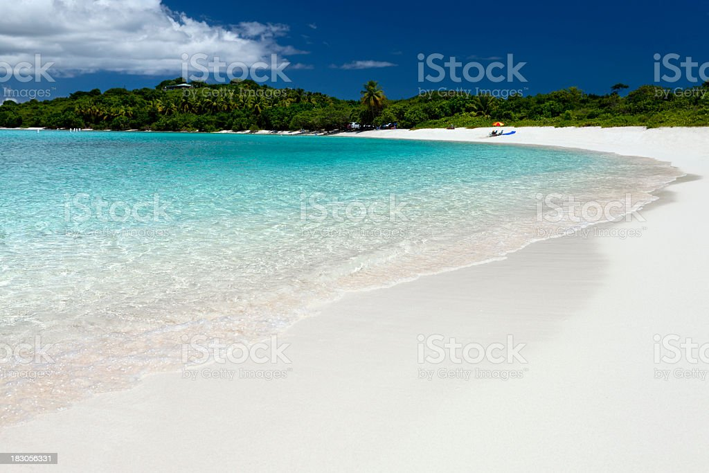 Lindquist Beach in St. Thomas, US Virgin Islands royalty-free stock photo