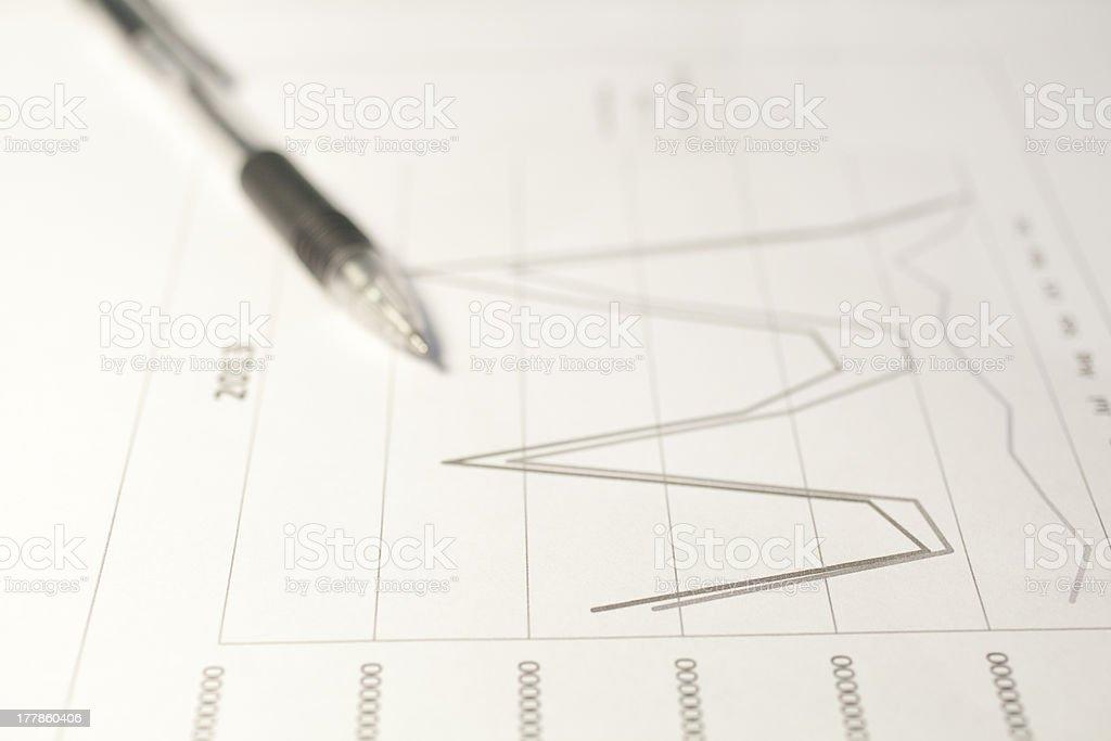 Line Chart royalty-free stock photo