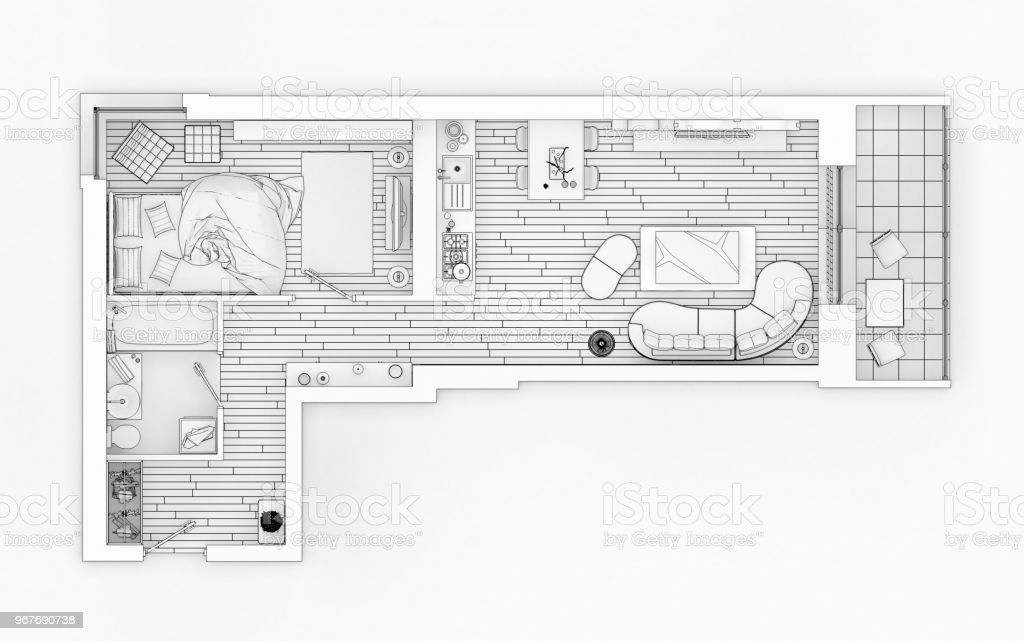 Line Drawing Floor Plan On A White Background Mock Up Of Furnished on house plan in the philippines, house plan in malaysia, house plan in sri lanka, house plan in zambia, house plan in tanzania, house plan in germany, house plan in ghana, house plan in mali, house plan in haiti, house plan in zimbabwe, house plan in botswana, house plan in south africa, house plan in kenya, house plan in lesotho, house plan in pakistan, house plan in europe, house plan in nigeria, house plan in barbados, house plan in greece, house plan in seychelles,