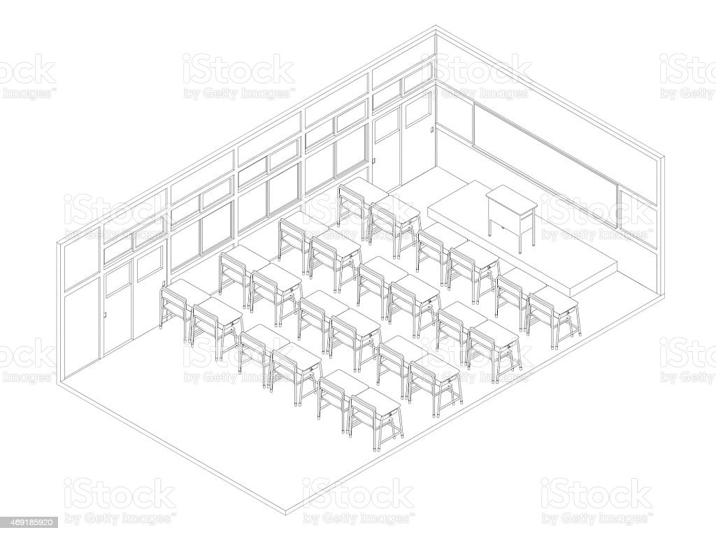 Uncategorized Drawing Of A Classroom line drawing of classroom stock photo 469185920 istock royalty free photo