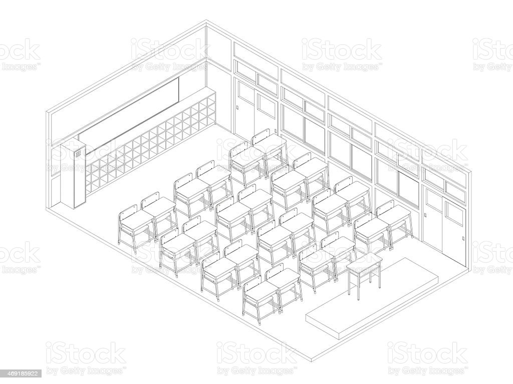 Uncategorized Drawing Of A Classroom line drawing of classroom stock photo 469185922 istock royalty free photo