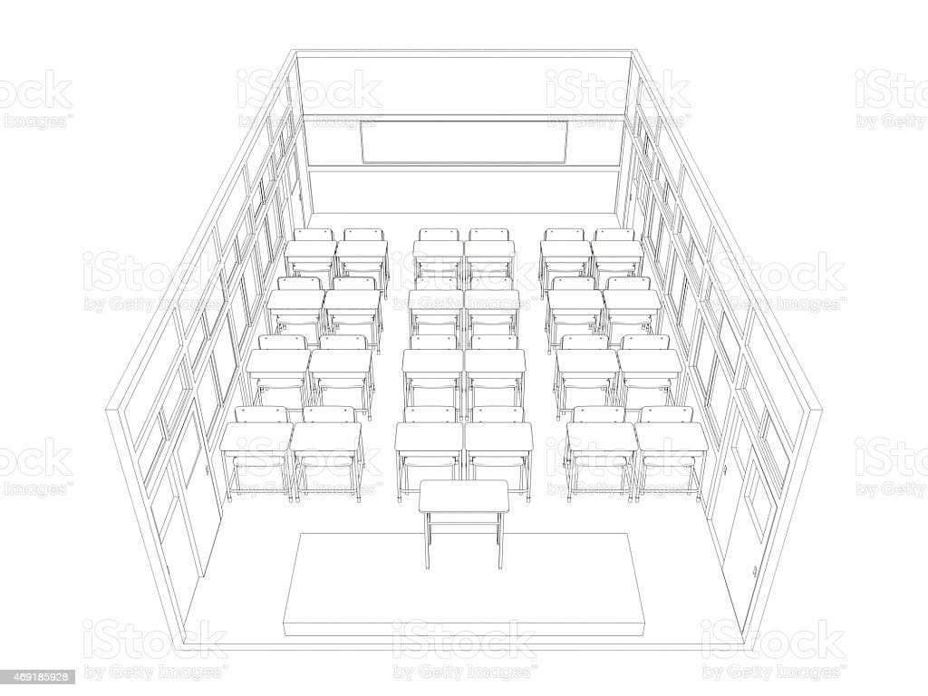 Uncategorized Drawing Of A Classroom line drawing of classroom stock photo 469185928 istock royalty free photo