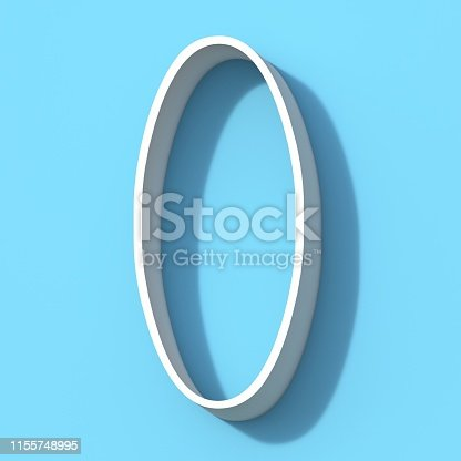 845307368 istock photo Line font with shadow Number 0 ZERO 3D 1155748995