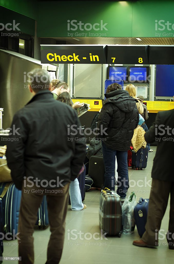 Line for check in royalty-free stock photo