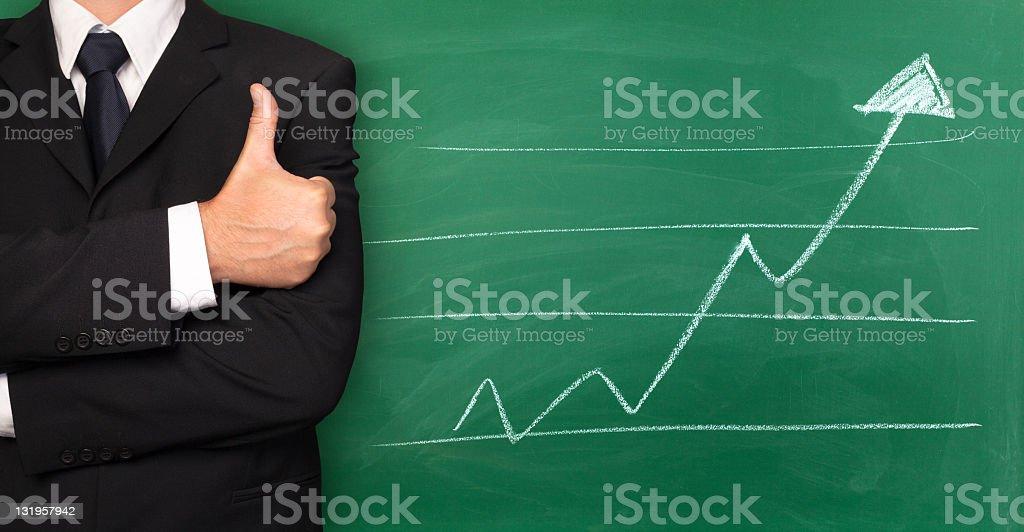 Line graph - Royalty-free Arrow Symbol Stock Photo