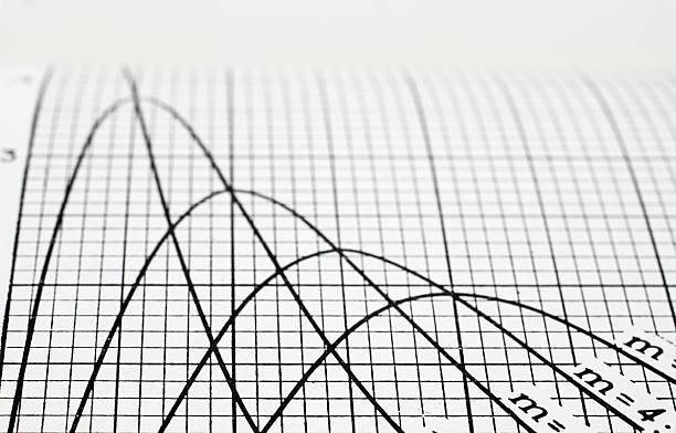 Diagrama de línea - foto de stock