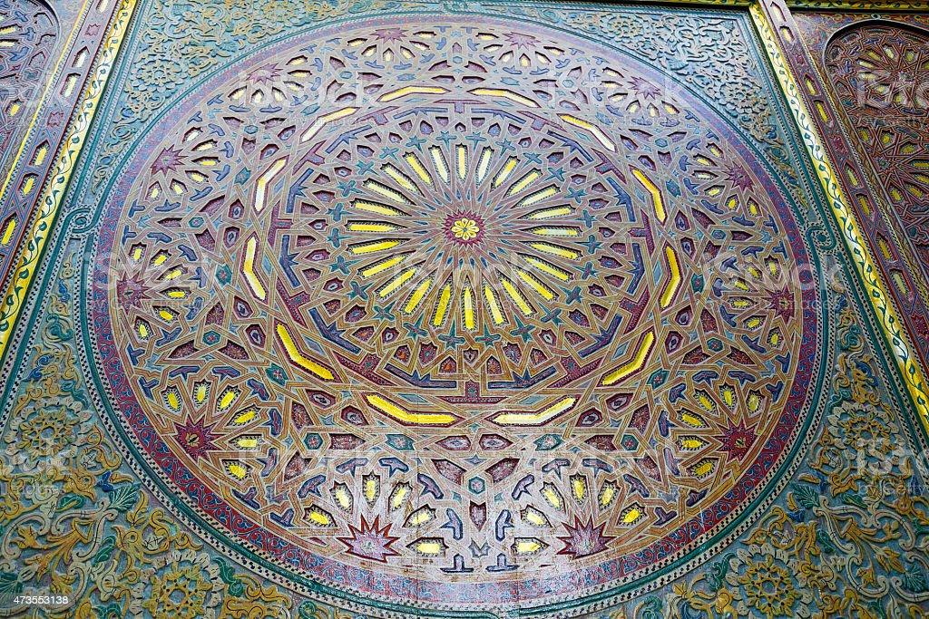 Line in marocco e piastrelle in ceramica colorated piano astratto