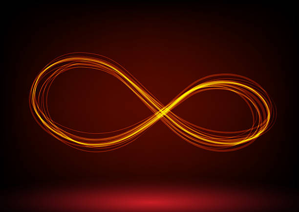 line infinity symbol - infinity stock photos and pictures