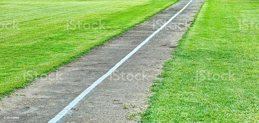ラインの野球場 ストックフォト