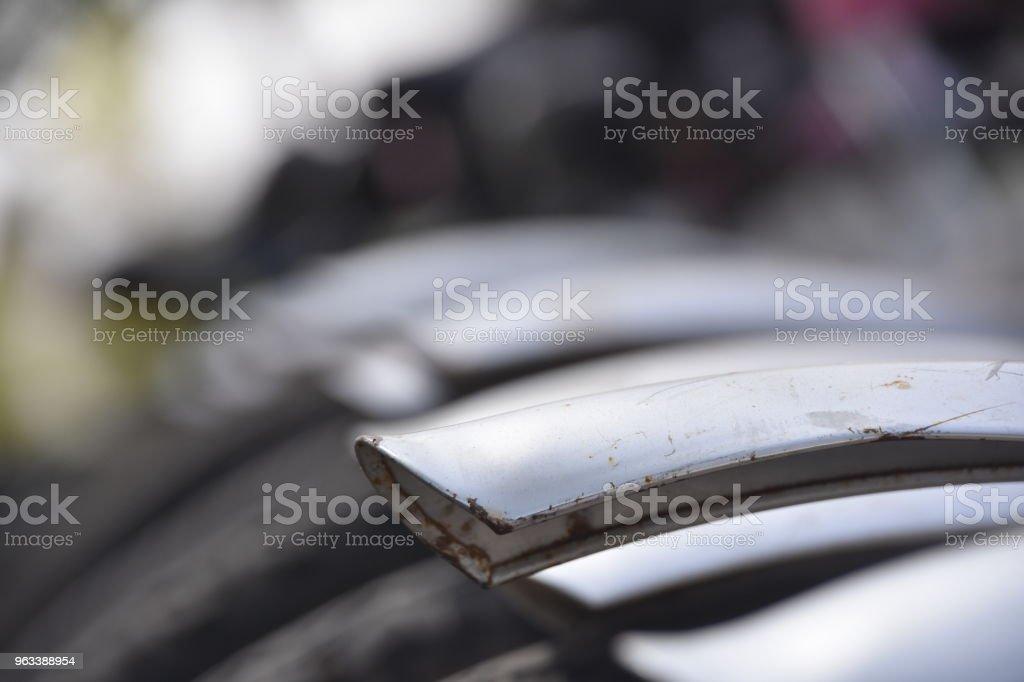 A line of bicycles for rent - Zbiór zdjęć royalty-free (Archiwalny)