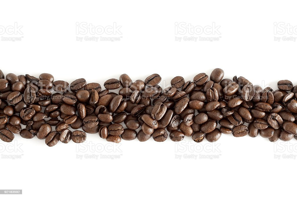 Line of coffee beans royalty-free stock photo
