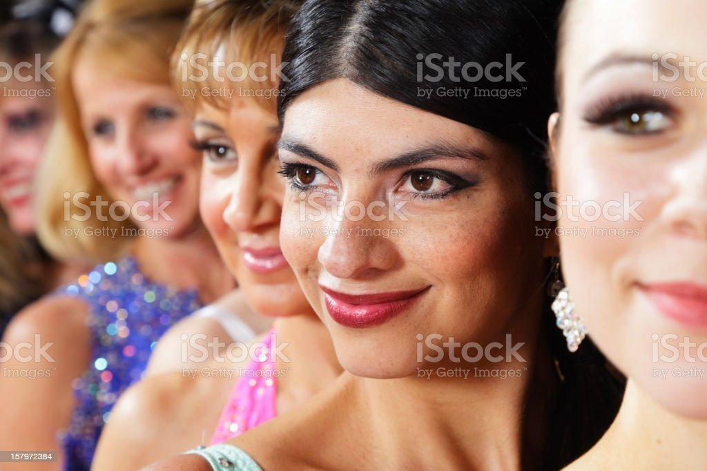 Line of Dancers royalty-free stock photo