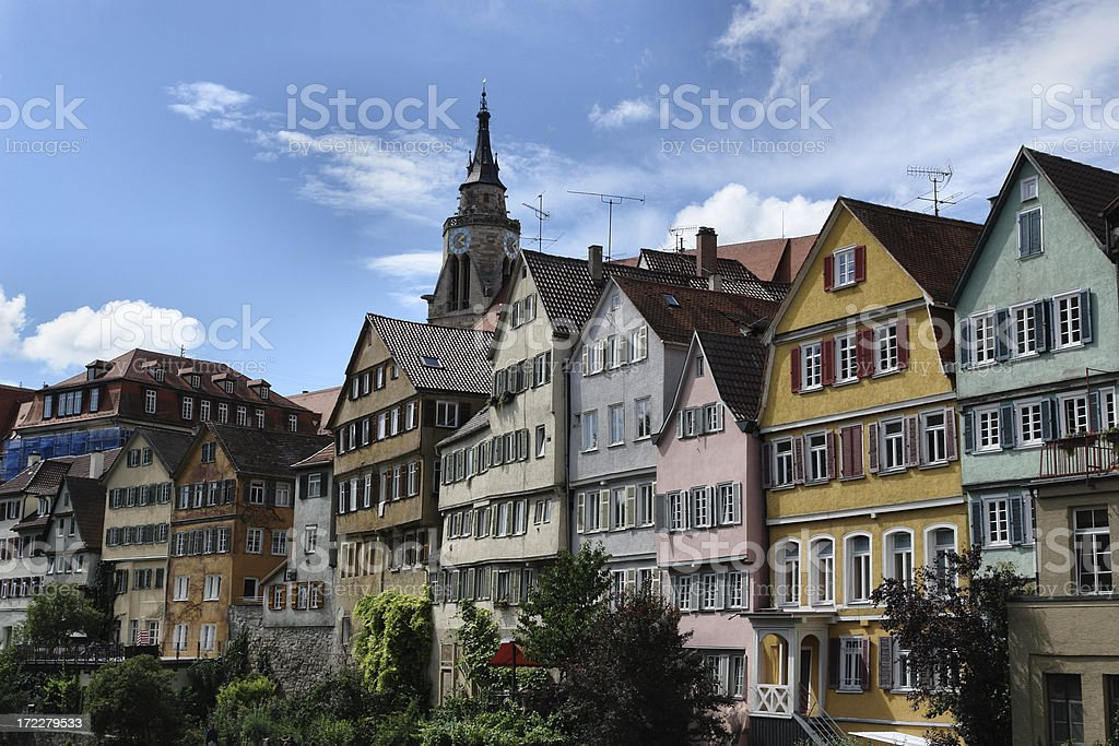 line of houses royalty-free stock photo