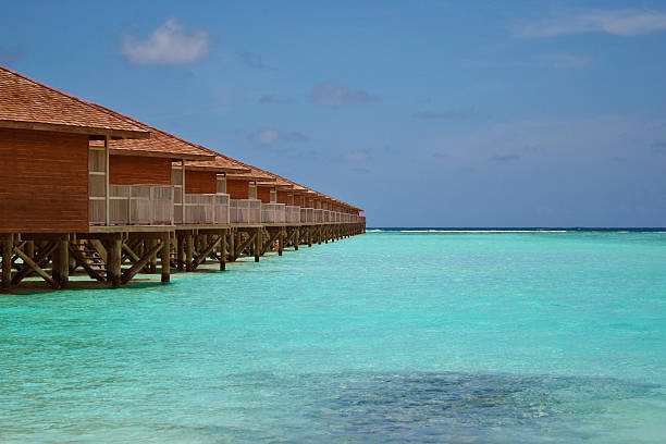Line of Overwater Bungalows – Foto