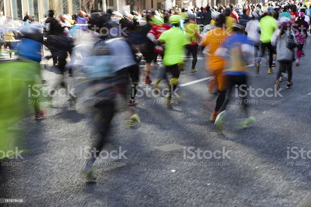 Line of runners on tokyo marathon royalty-free stock photo