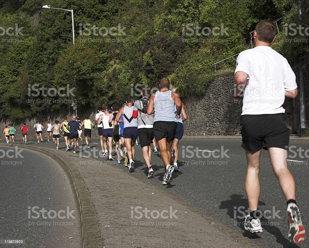 Line of runners stock photo