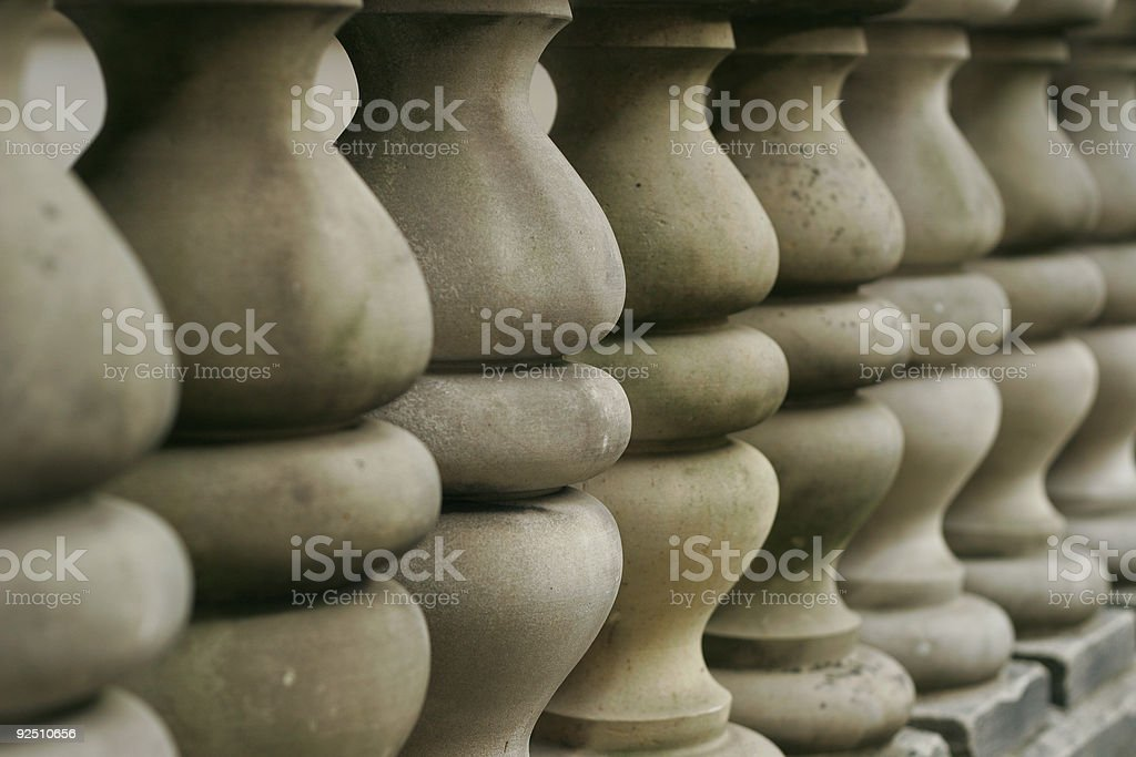 Line of Short Columns royalty-free stock photo