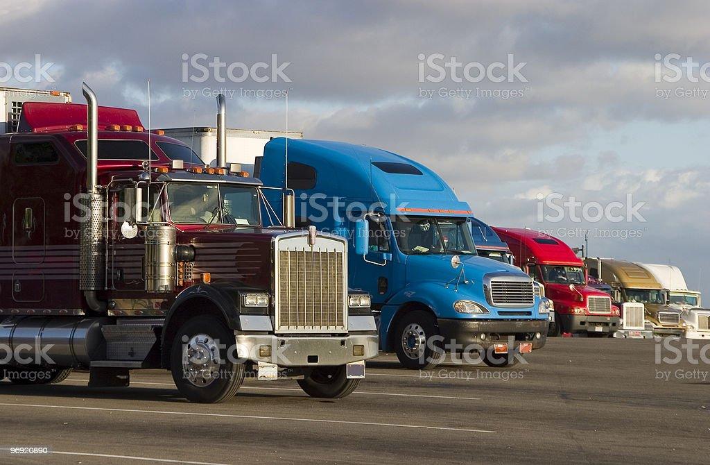 Line of Trucks 1 royalty-free stock photo